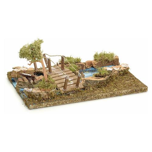 Pont sur îlot de rivière pour crèche 3