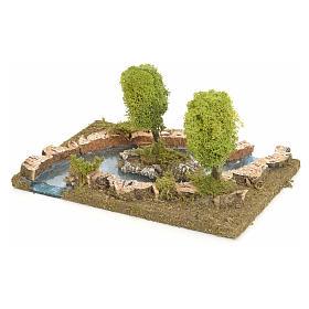 Bras de rivière avec îlot pour crèche de Noël s3