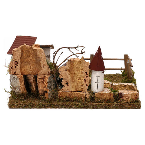 Nativity setting, scenery with river 5