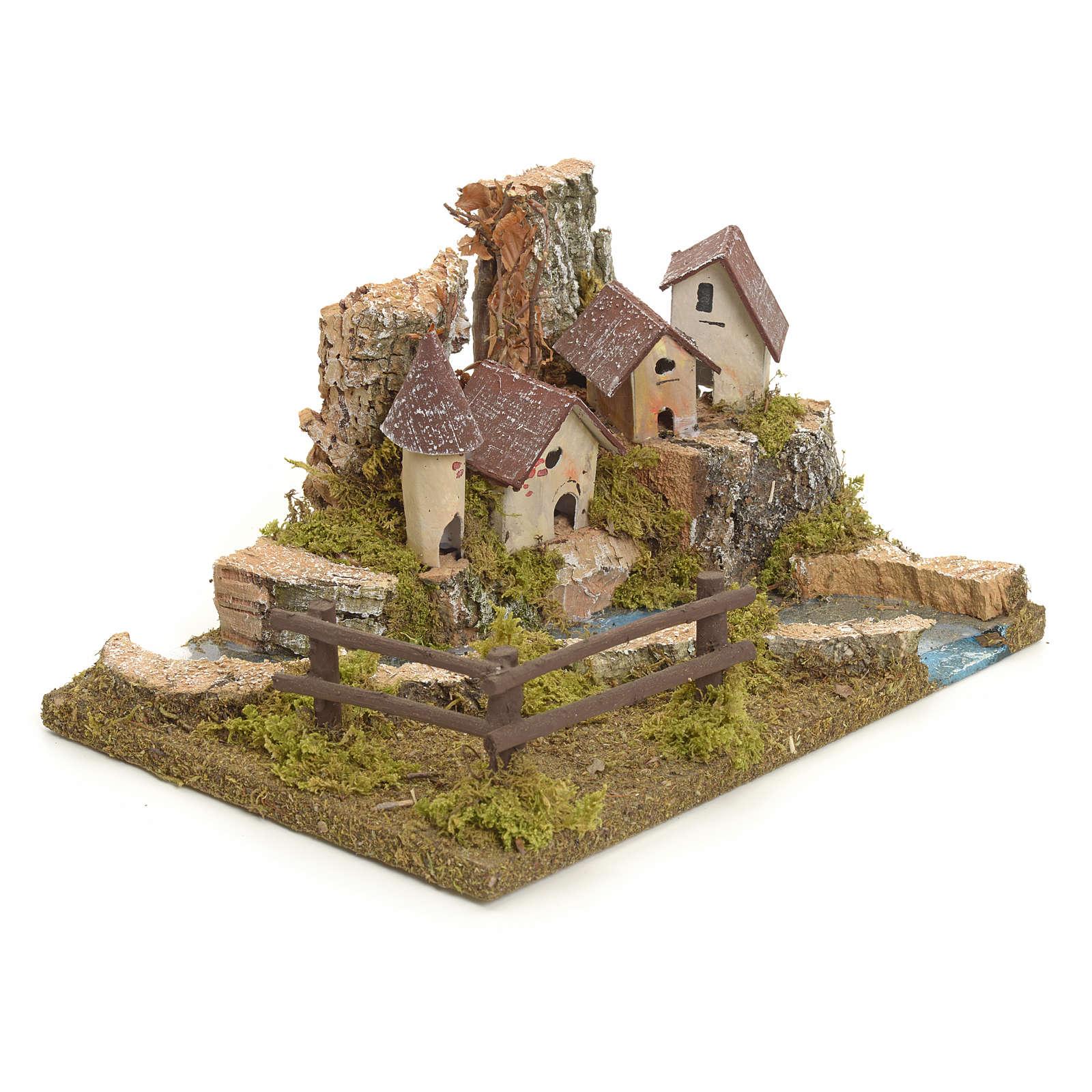 Village sur berge de rivière pour crèche 4