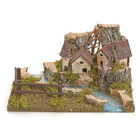 Village sur berge de rivière pour crèche s1