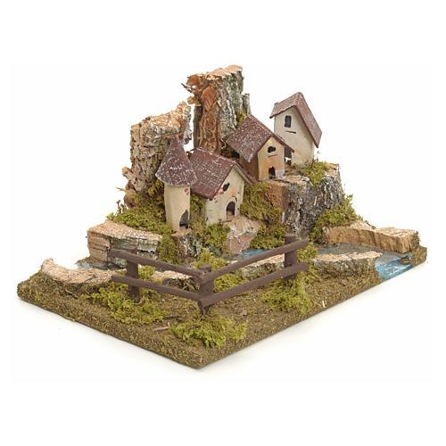 Village sur berge de rivière pour crèche 2