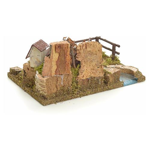 Village sur berge de rivière pour crèche 3