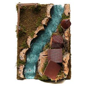 Paese con fiume: ambiente per presepe s2