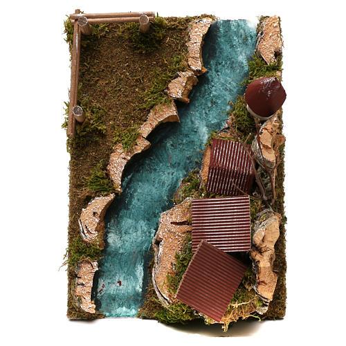 Paese con fiume: ambiente per presepe 2