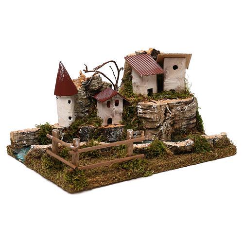 Miejscowość z rzeką: otoczenie szopki 4