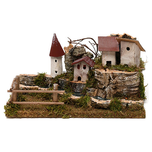 Nativity setting, scenery with river 1