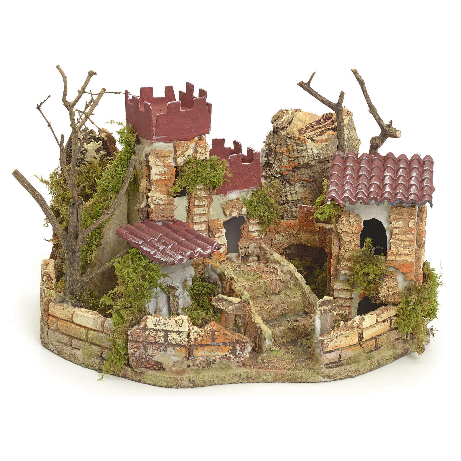 Château pour crèche 22x32x24 cm 4