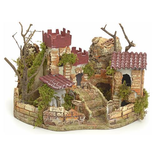 Château pour crèche 22x32x24 cm 1