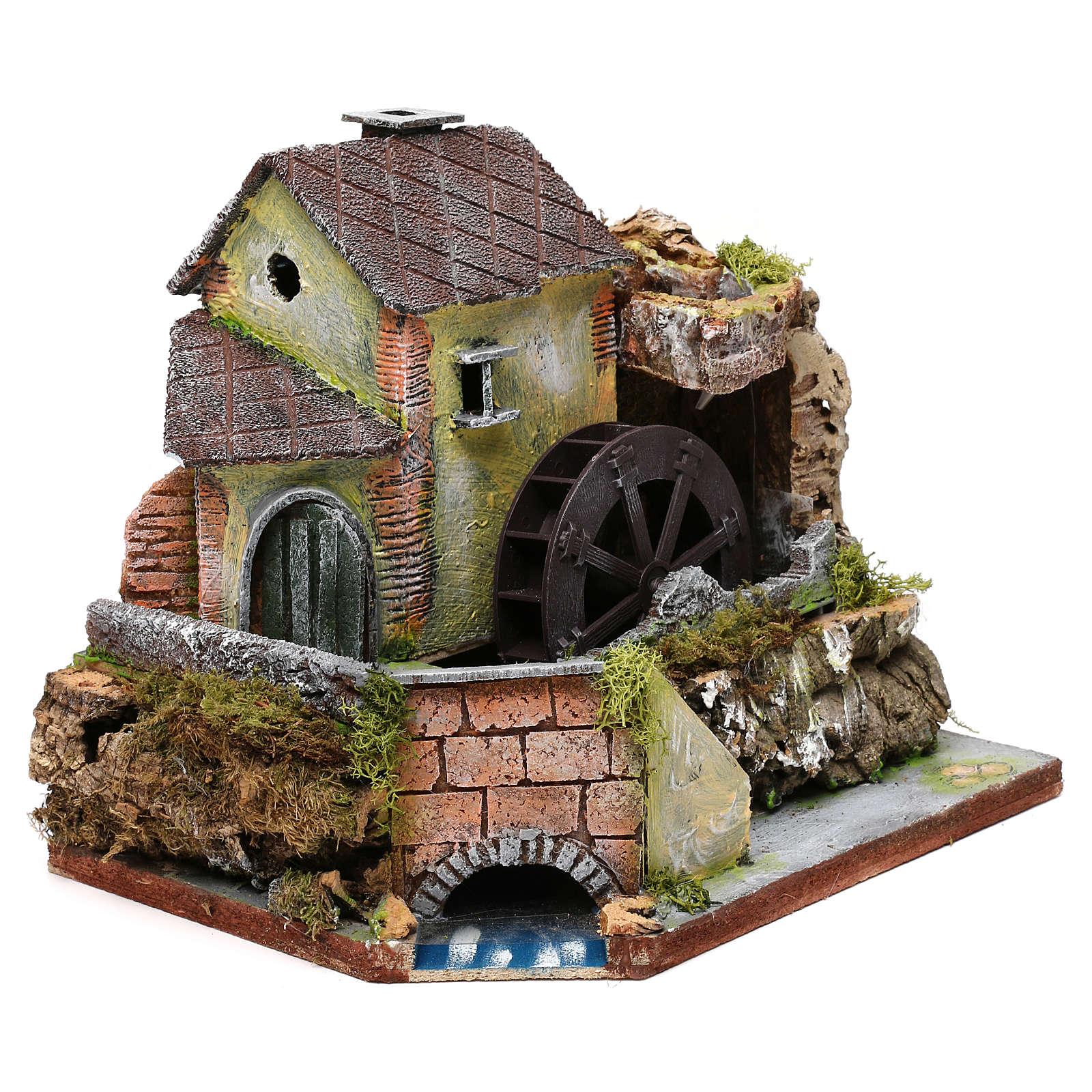 Viejo molino de agua: ambiente para pesebre 4