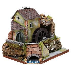 Viejo molino de agua: ambiente para pesebre s3