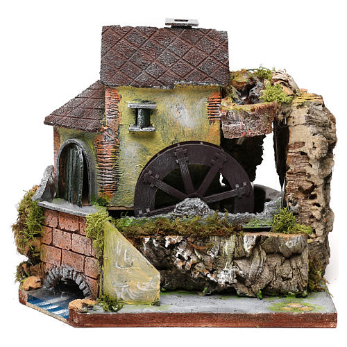 Viejo molino de agua: ambiente para pesebre 1