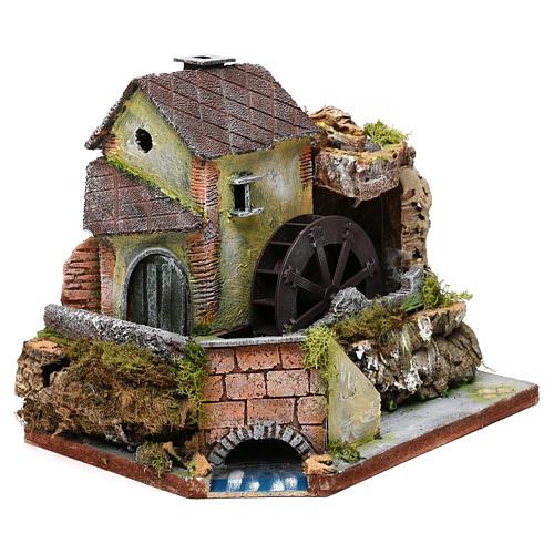 Viejo molino de agua: ambiente para pesebre 3