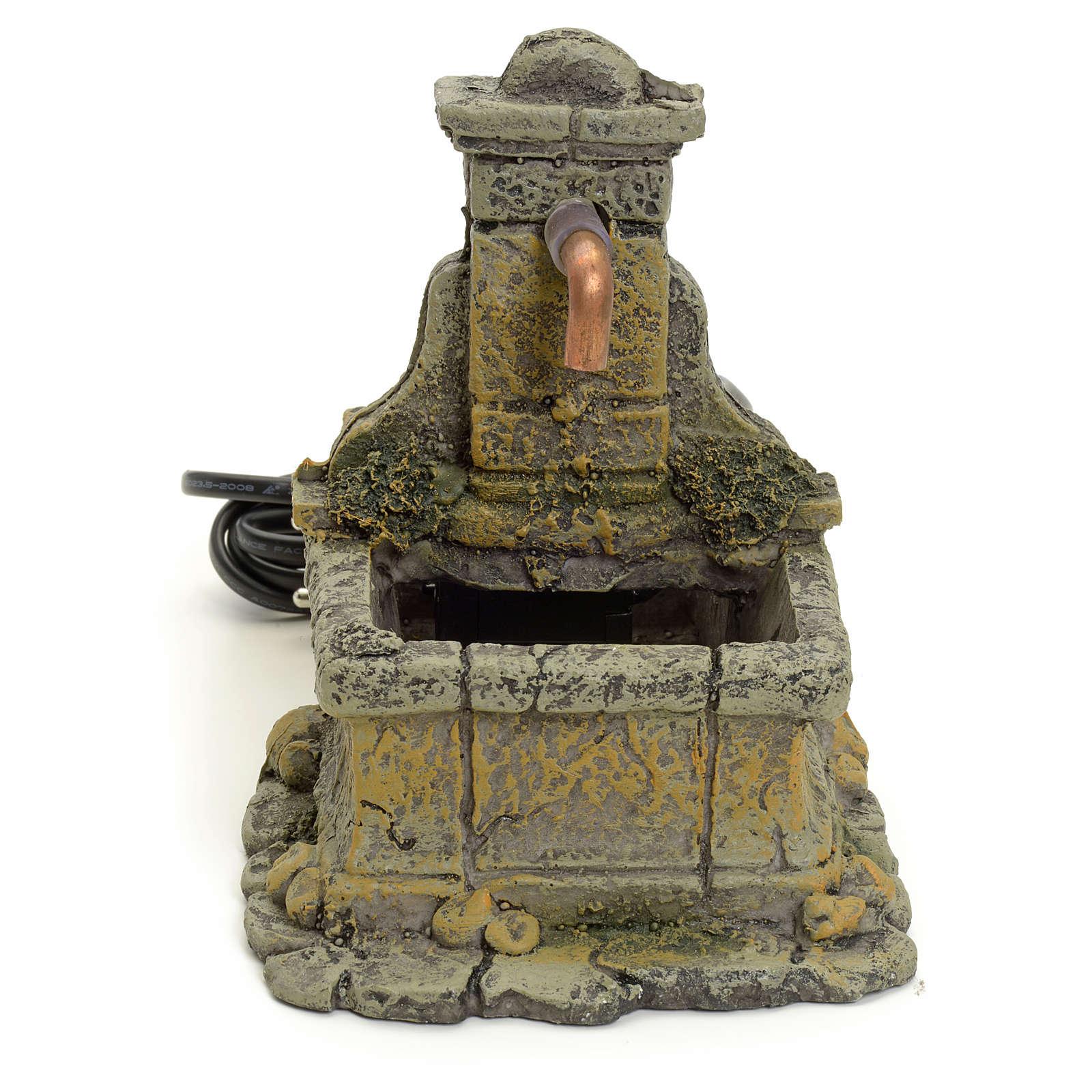 Nativity setting, fountain in resin 15x18x12cm 4