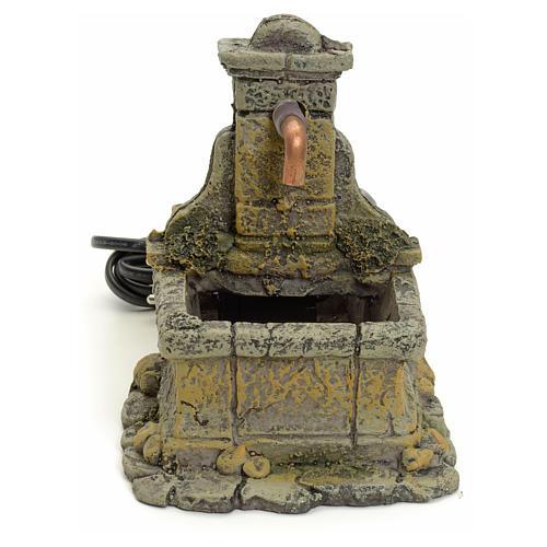 Nativity setting, fountain in resin 15x18x12cm 1