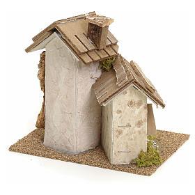 Décor pour crèche, maisons rustiques 14x15x14 s3