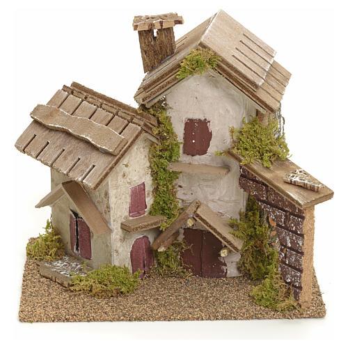 Décor pour crèche, maisons rustiques 14x15x14 1