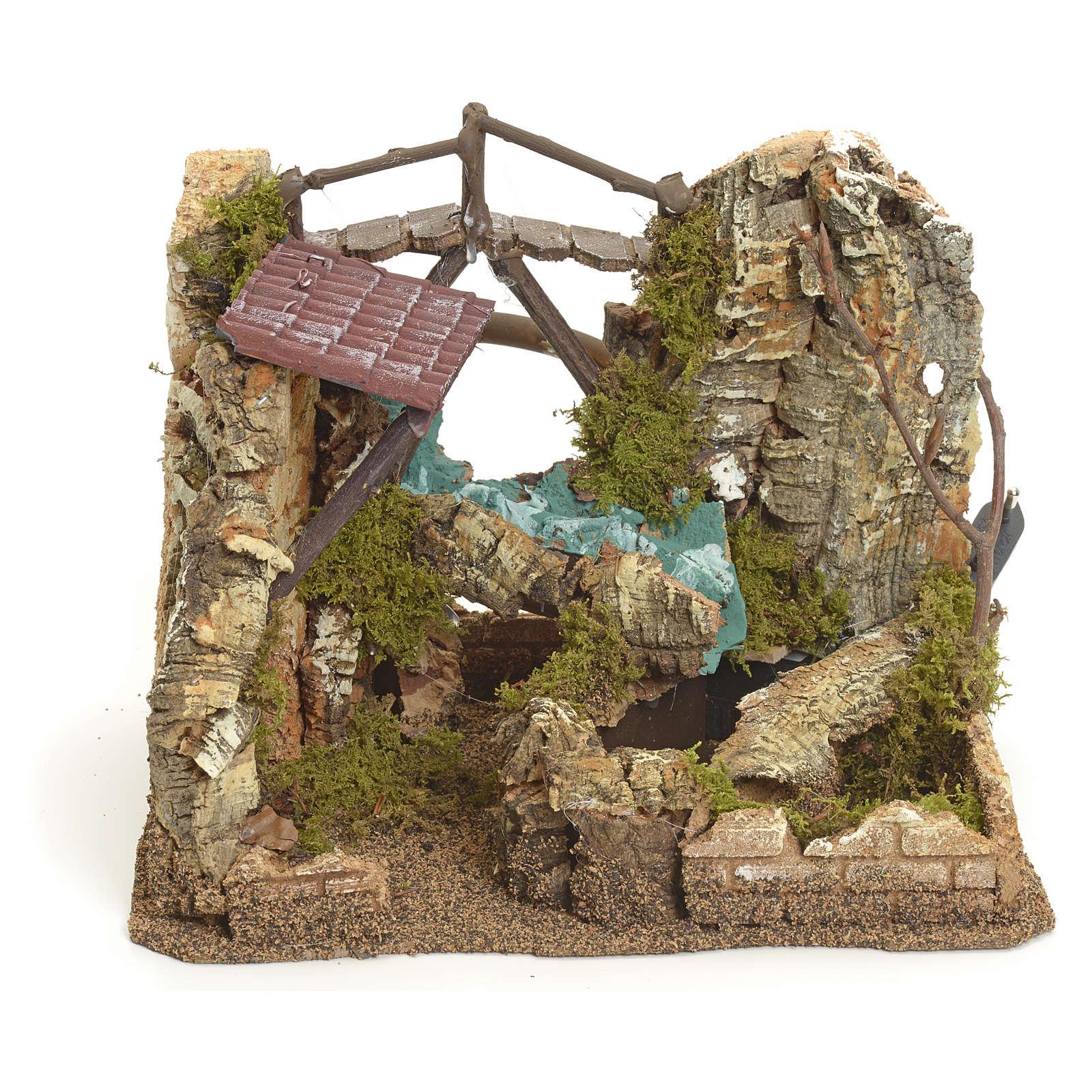 Cascada eléctrcia en ambiente de rocas para belén 4