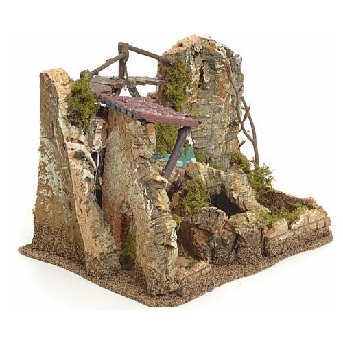 Cascada eléctrcia en ambiente de rocas para belén 2