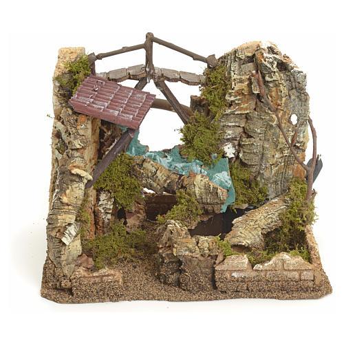 Cascade électrique avec roches  pour crèche 1