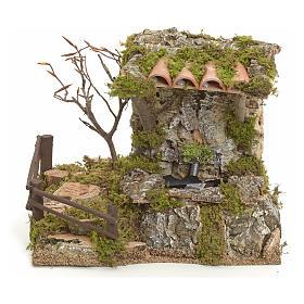 Fuente en la roca con techo para belén s1