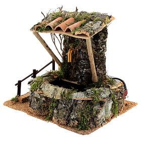 Fuente en la roca con techo para belén s2