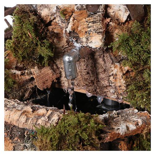 Fontaine dans la roche avec toit pour crèche 2