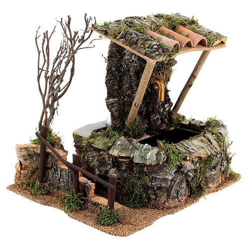 Fontana nella roccia con tettoia per presepe 3