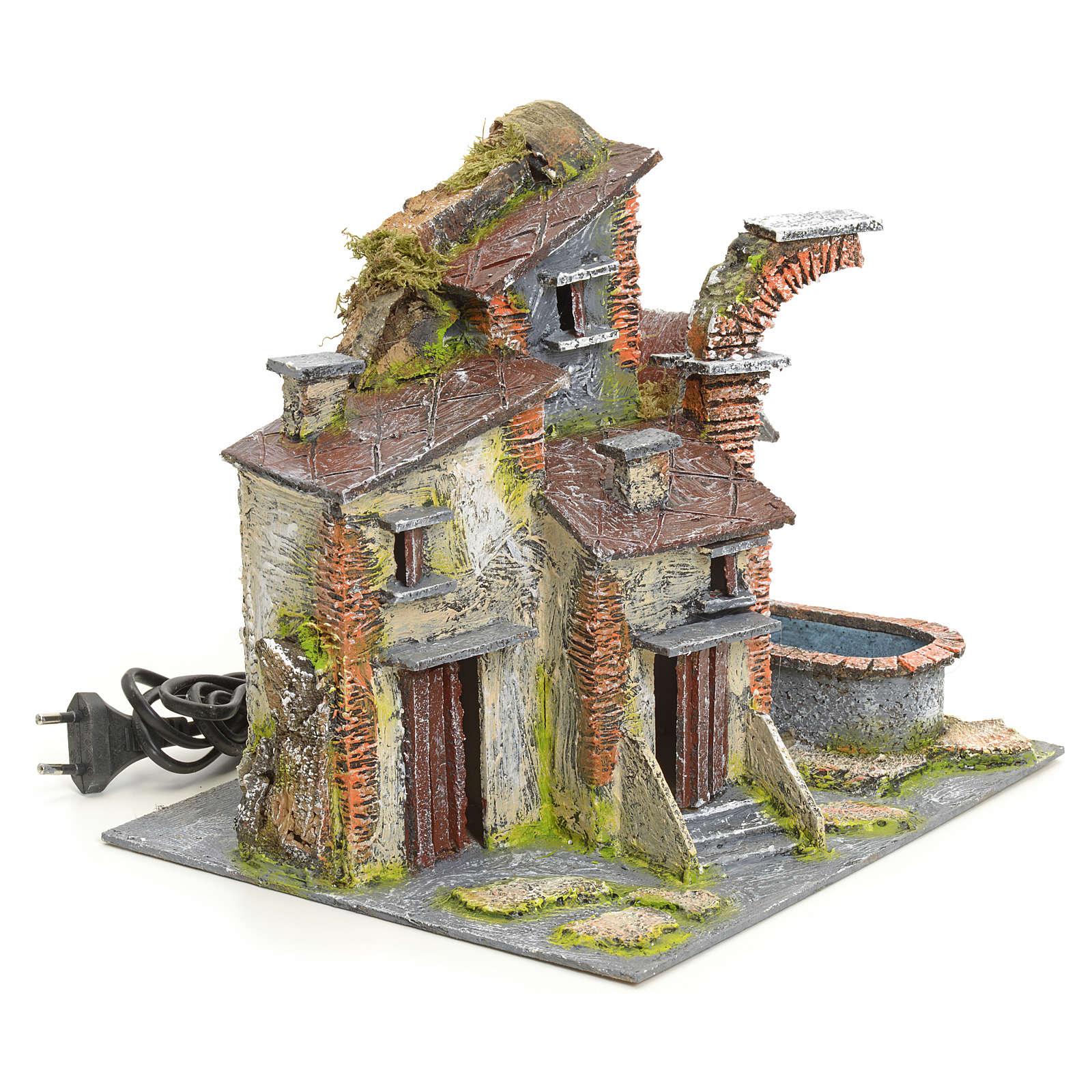 Burgo antiguo con fuente eléctrica 4