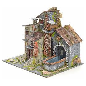 Borgo antico con fontana elettrica s3