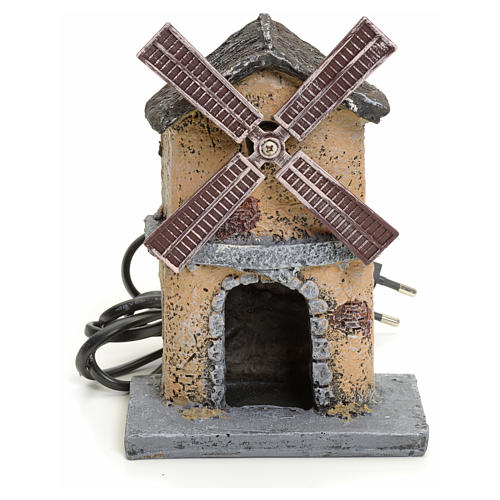 Nativity wind mill in resin 16x11x16cm 1