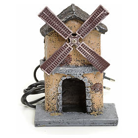 Nativity wind mill in resin 16x11x16cm s1