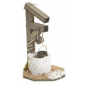 Nativity setting, wooden well H13cm s1