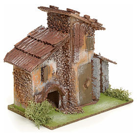 Nativity setting, rustic house in wood s2