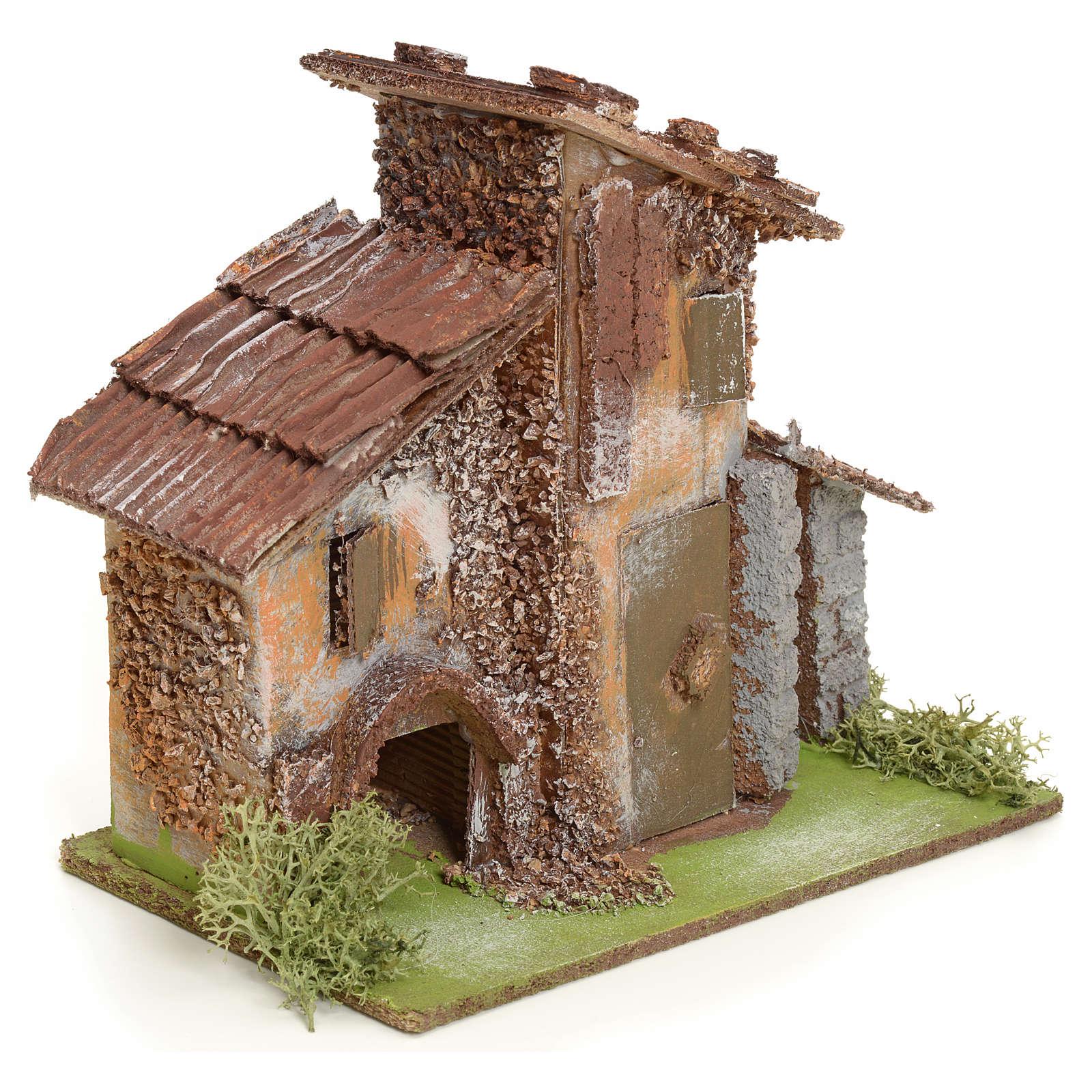 Maison rustique en bois pour crèche 4