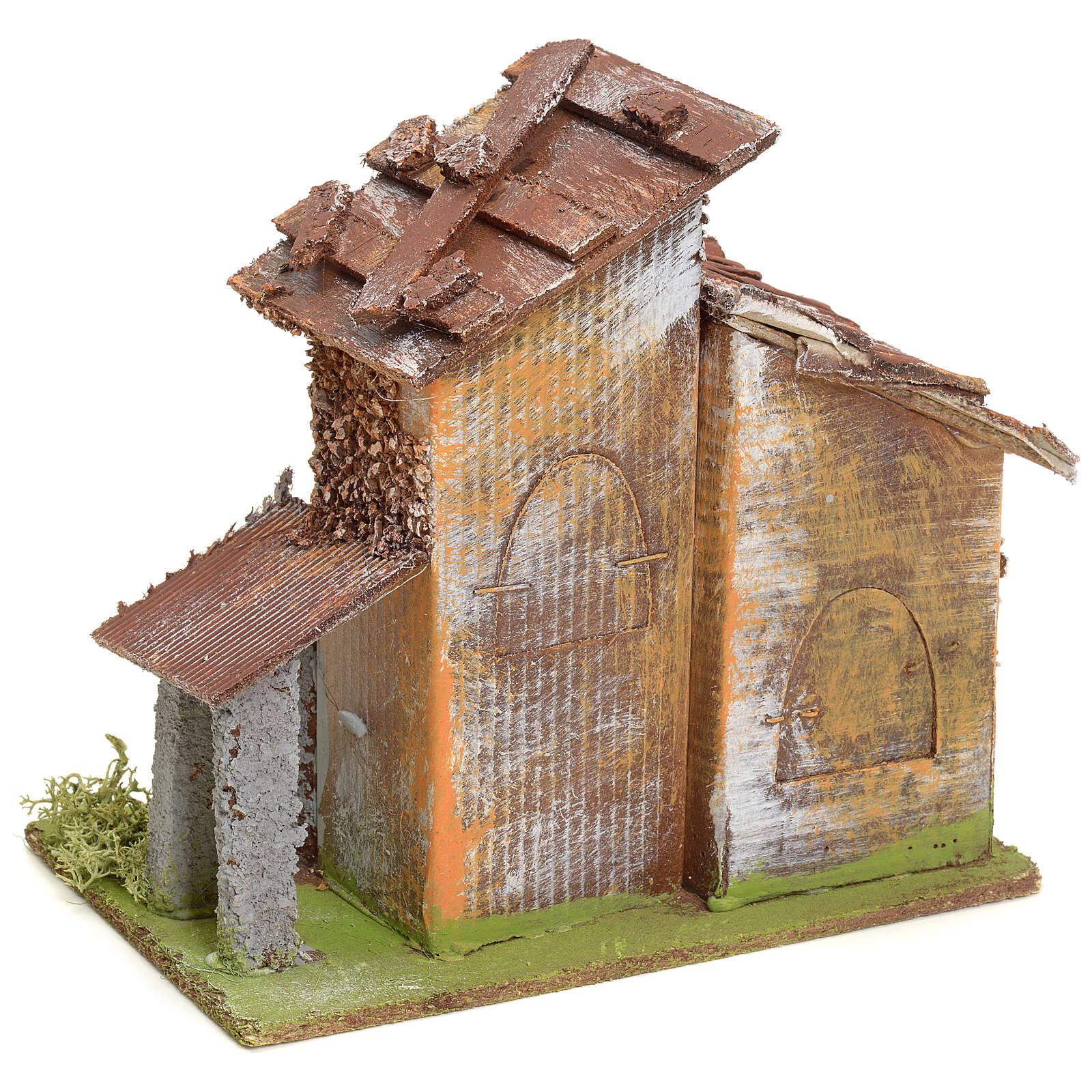 Casetta rustica in legno per presepe 4