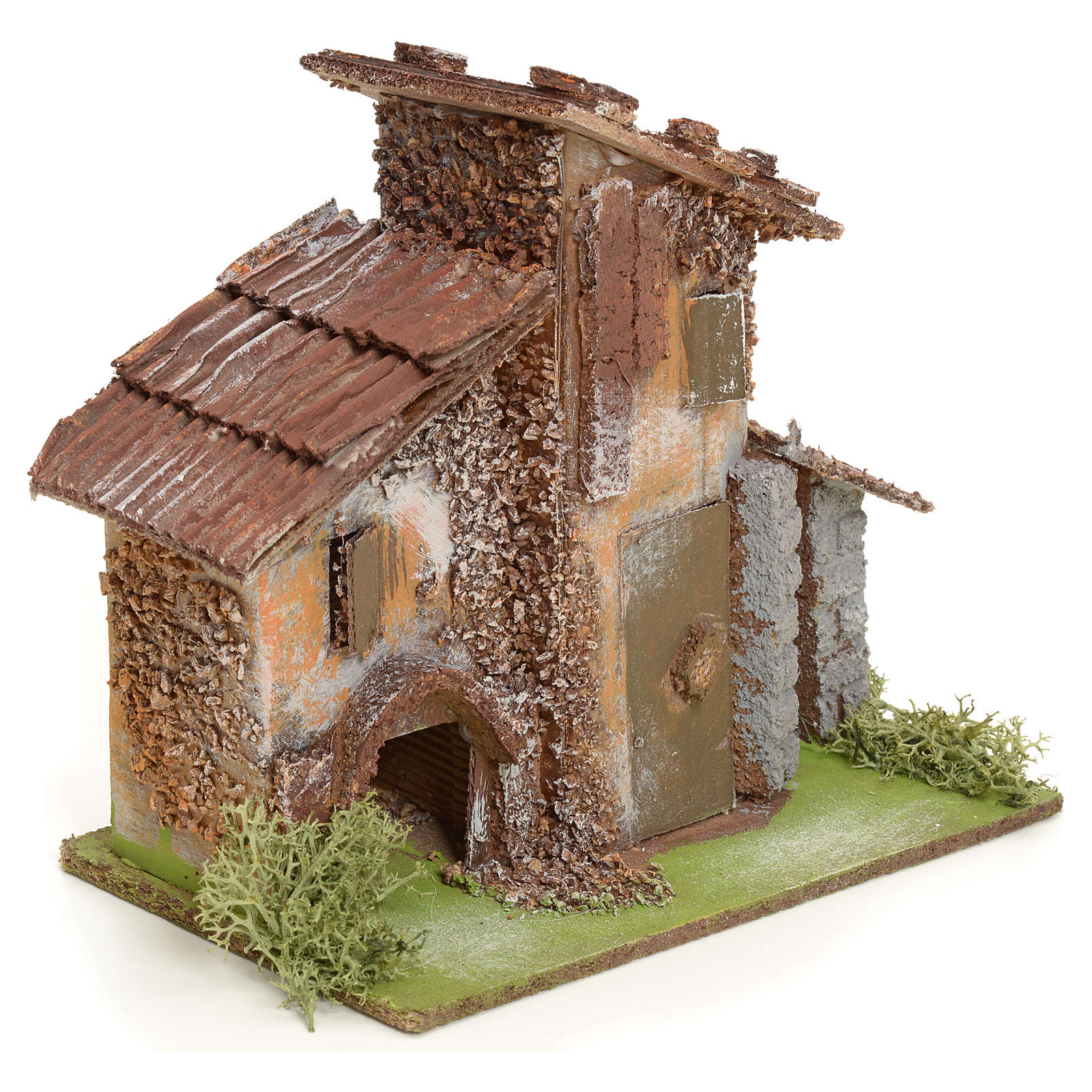 Chata wiejska z drewna do szopki 4