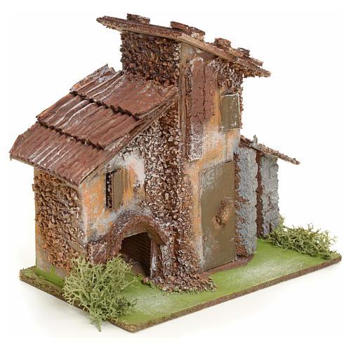 Chata wiejska z drewna do szopki 2