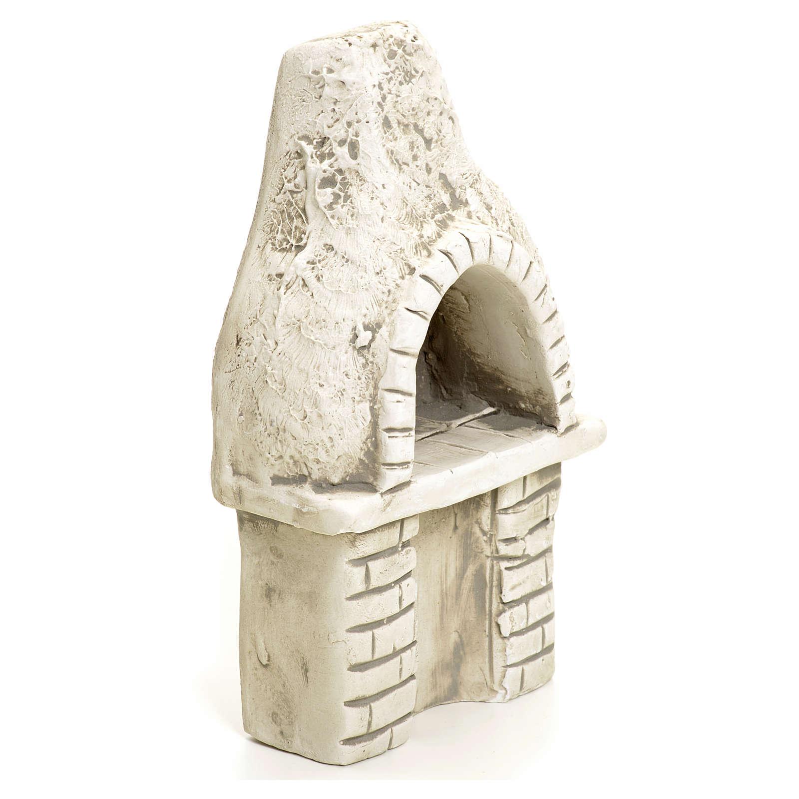 Nativity setting, oven in plaster 4