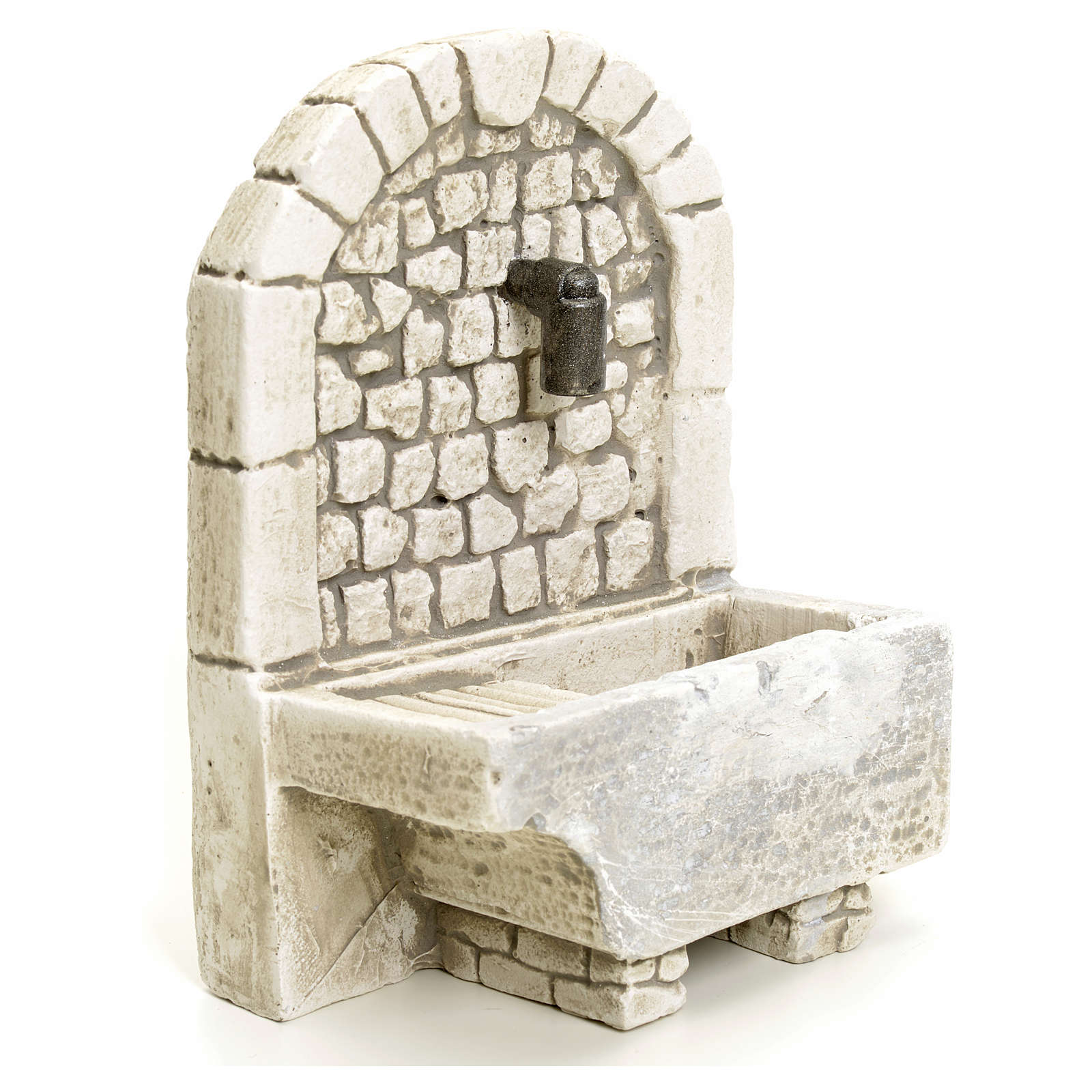 Nativity setting, arch fountain in plaster 4