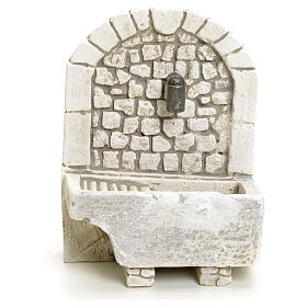 Nativity setting, arch fountain in plaster s1