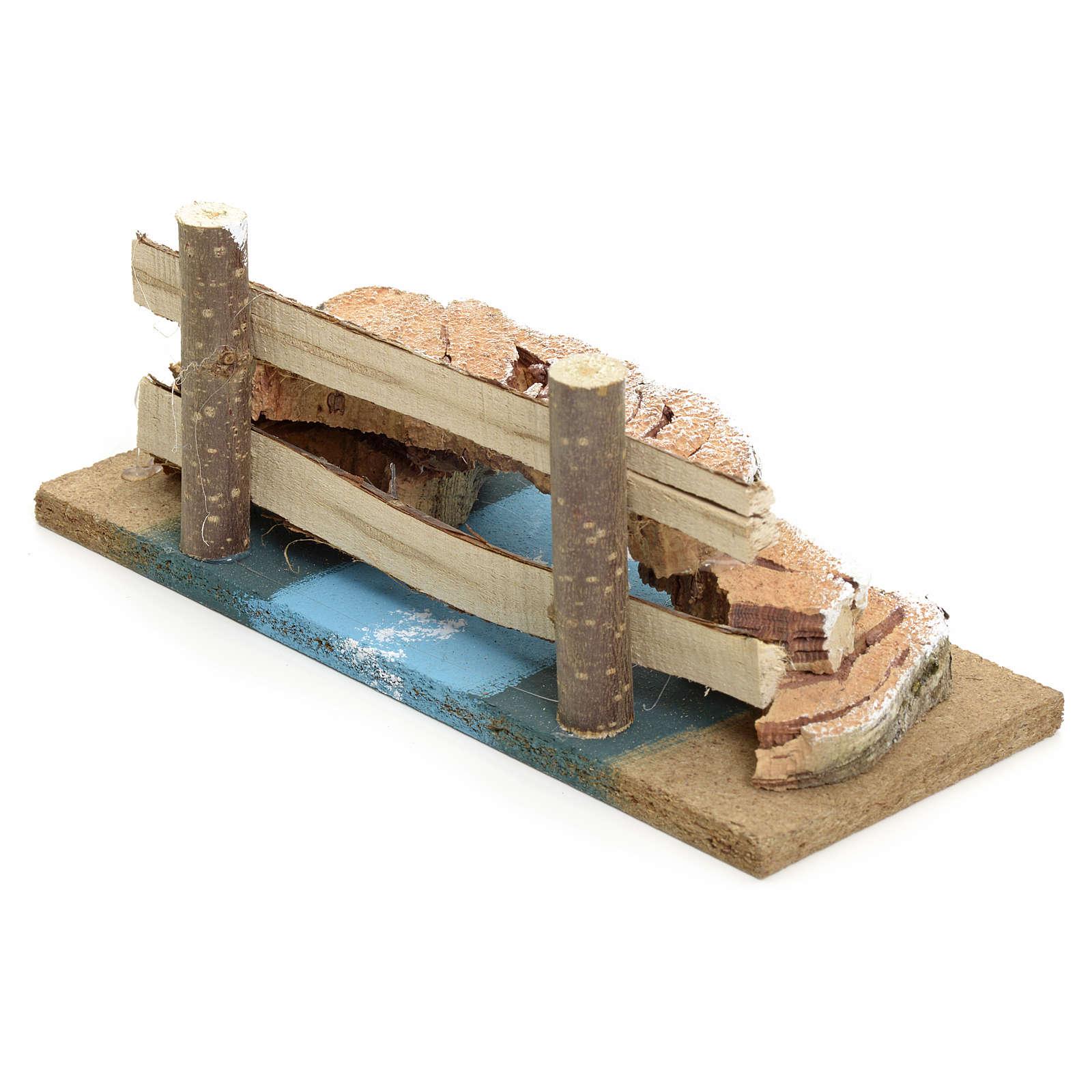 Pont liège pour crèche de noel 4