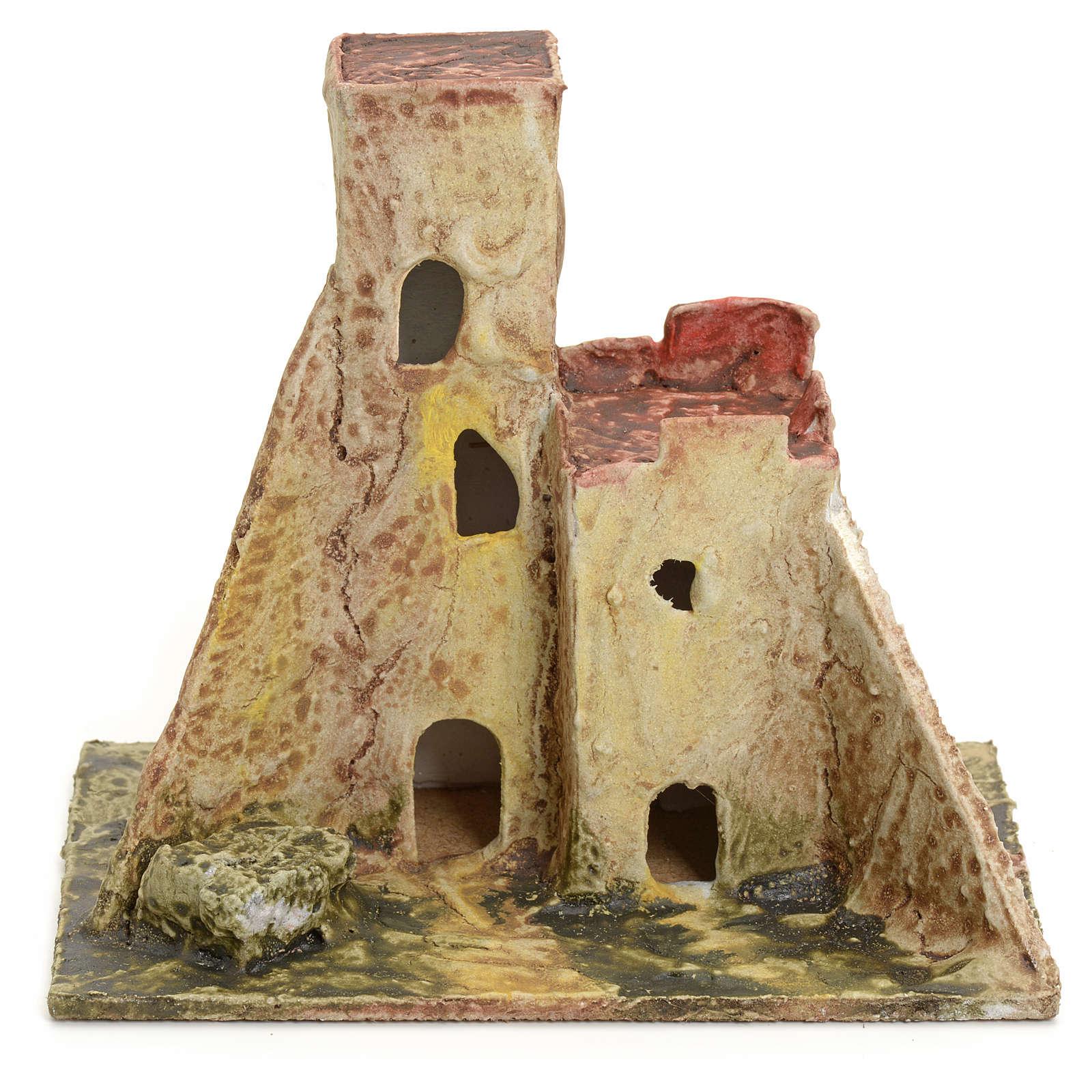 Casa abandonada para el belén madera estucada 4