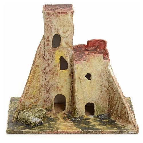 Casa abandonada para el belén madera estucada 1