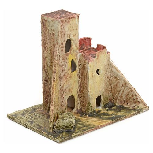 Casa abandonada para el belén madera estucada 2