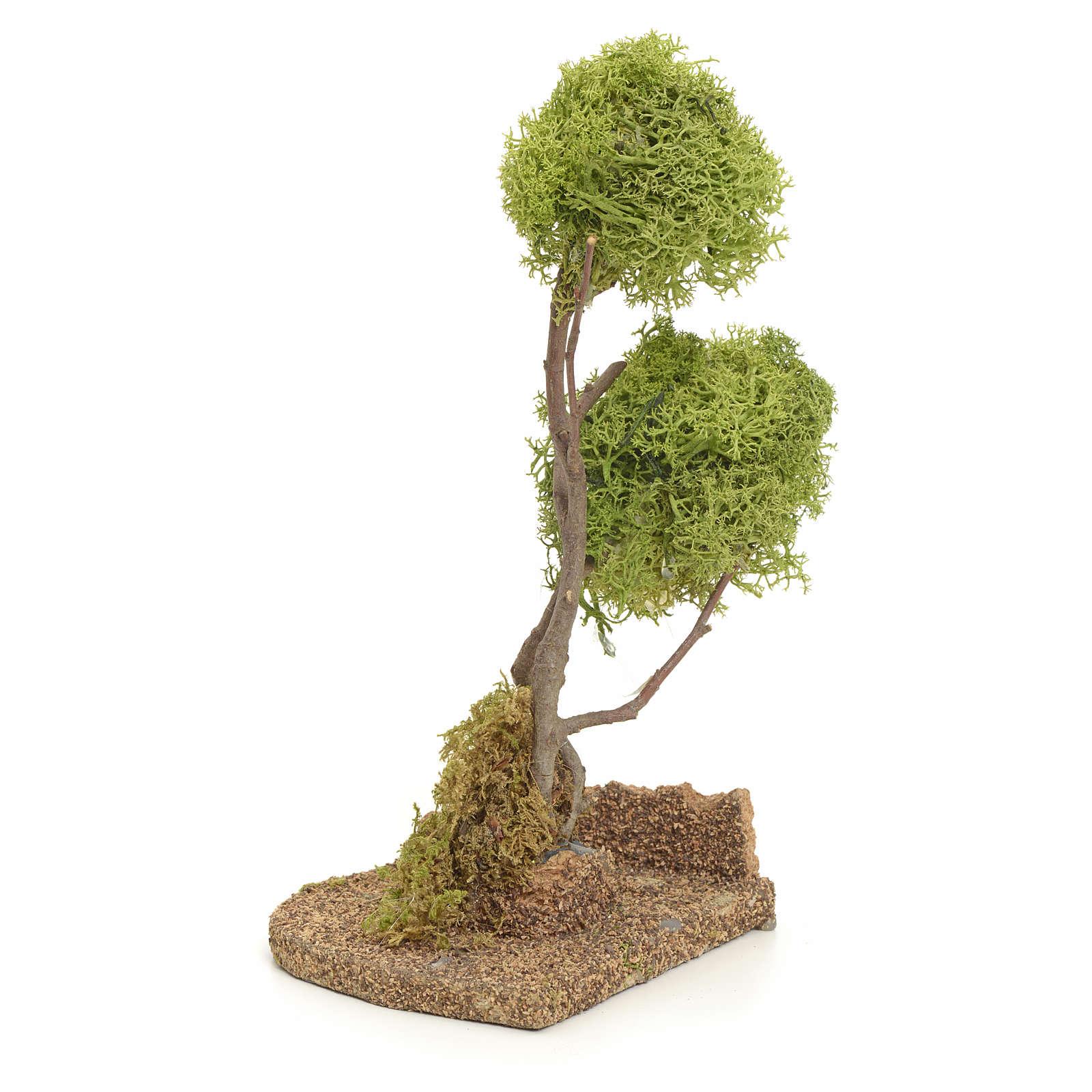 Árbol liquen para el belén 20 cm 4