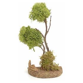 Mousse végétale, Lichens, Arbres, Pavages: Arbre lichen en miniature pour crèche h 20 cm