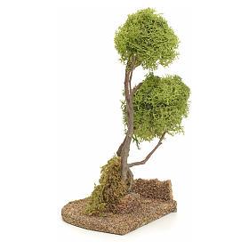 Arbre lichen en miniature pour crèche h 20 cm s3
