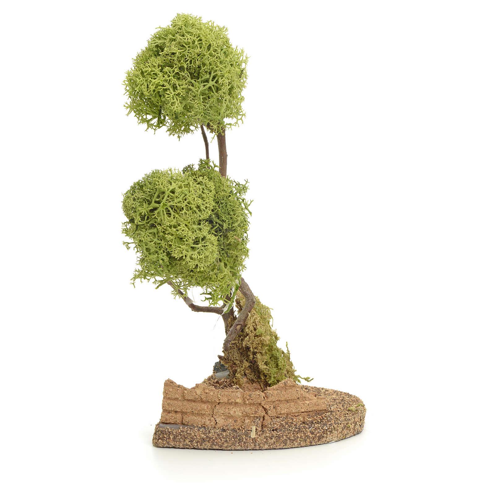 Albero lichene per presepio h 20 cm 4