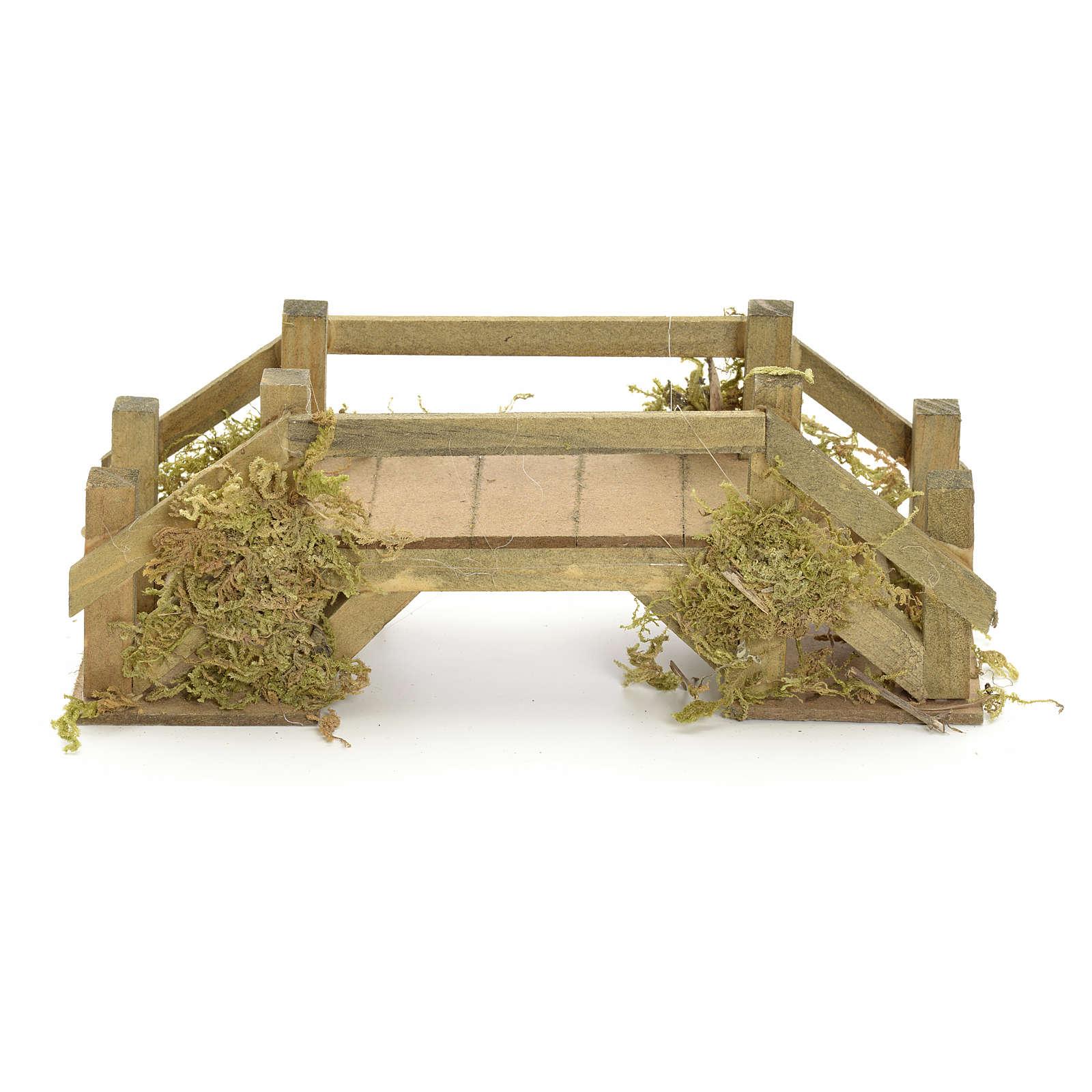 Pont en bois et mousse pour crèche 8x20x6 cm 4